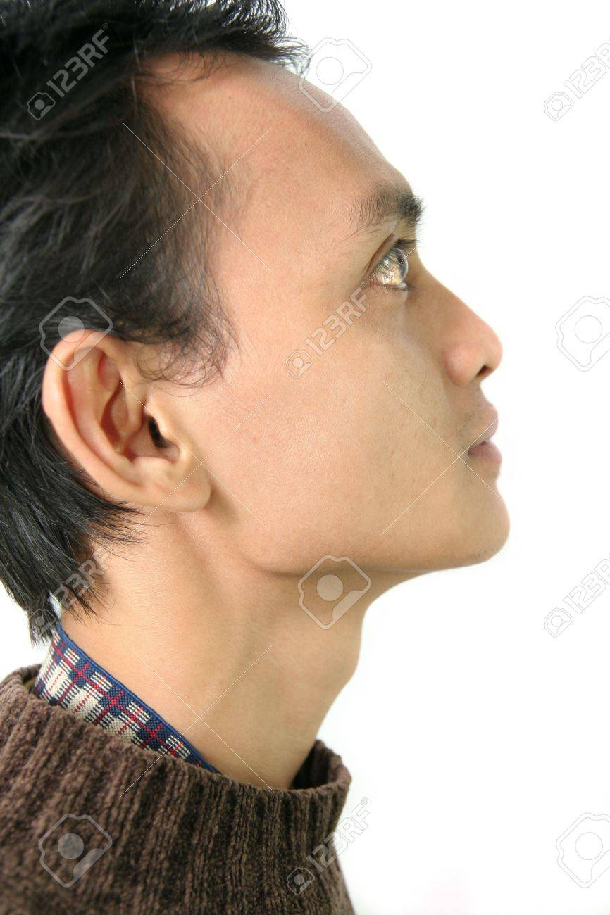 side view asian face Stock Photo - 3462857