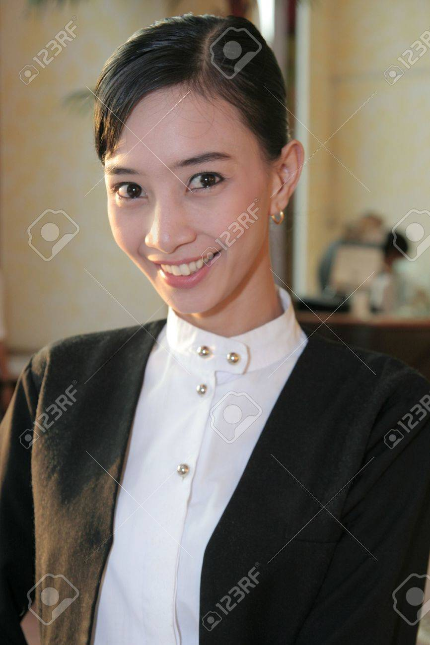 waitress at work Stock Photo - 3744430