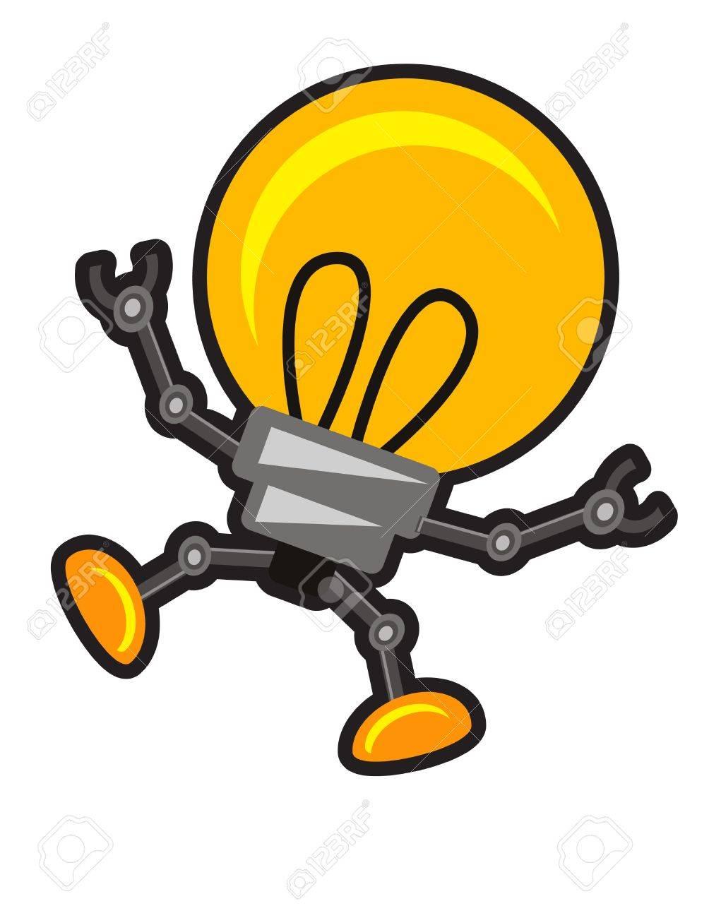 illustration of lamp robot Stock Vector - 10881960