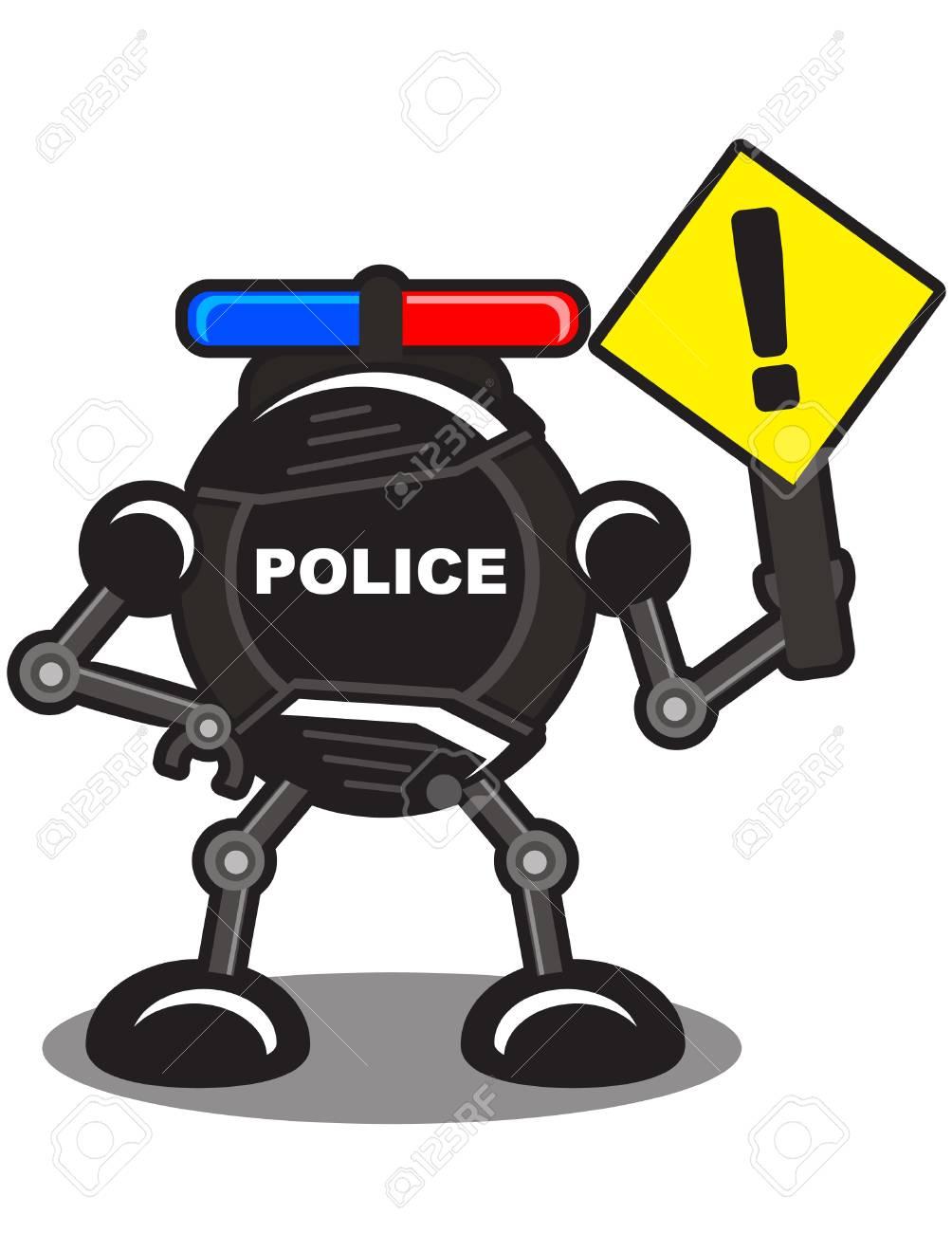 illustration of robotic police Stock Vector - 10881974