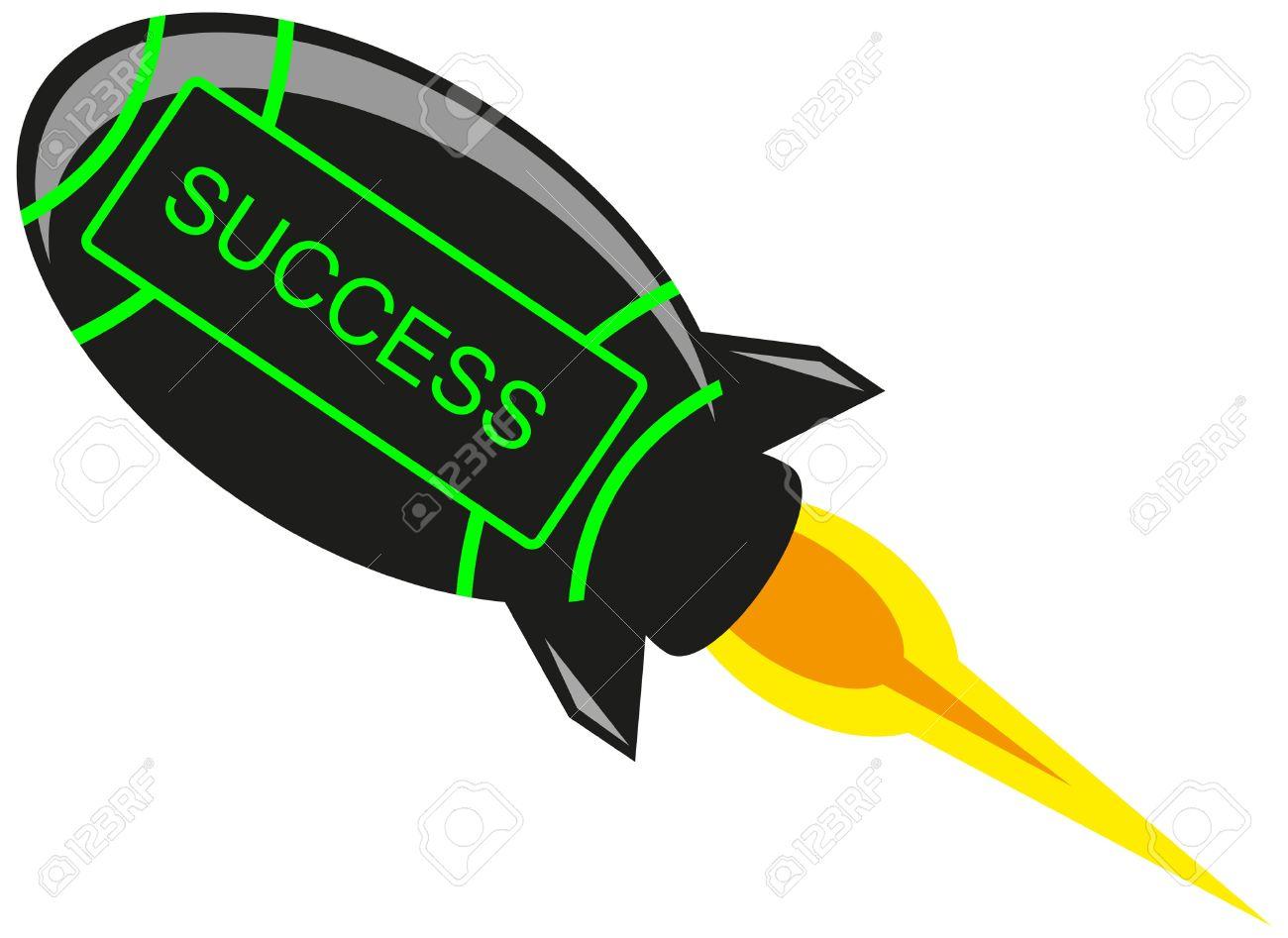 Success Rocket Stock Vector - 10881992