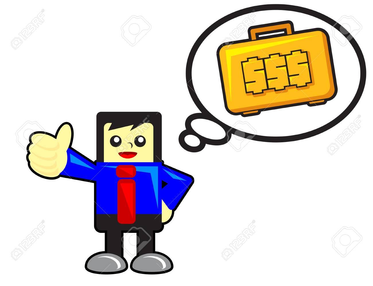 funny businessman Stock Vector - 12125760