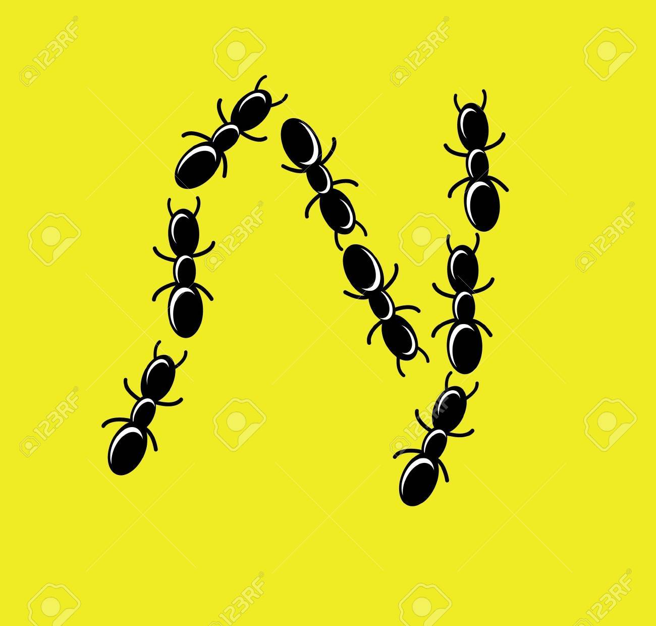illustration of font type created with group of ant Stock Vector - 13119778
