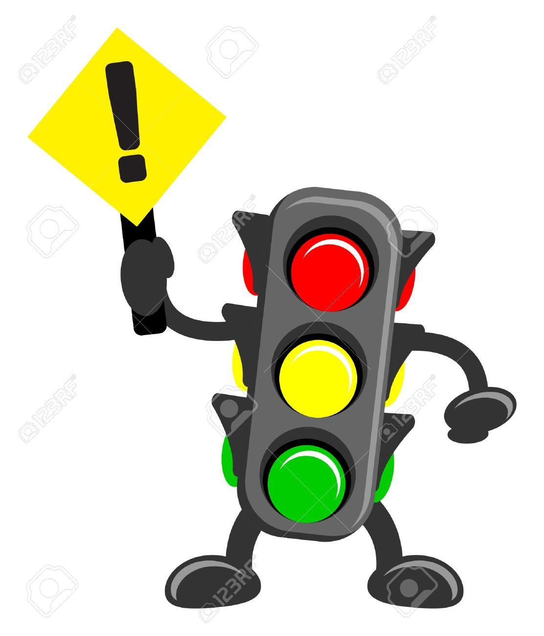 illustration of cartoon traffic light Stock Vector - 13196838