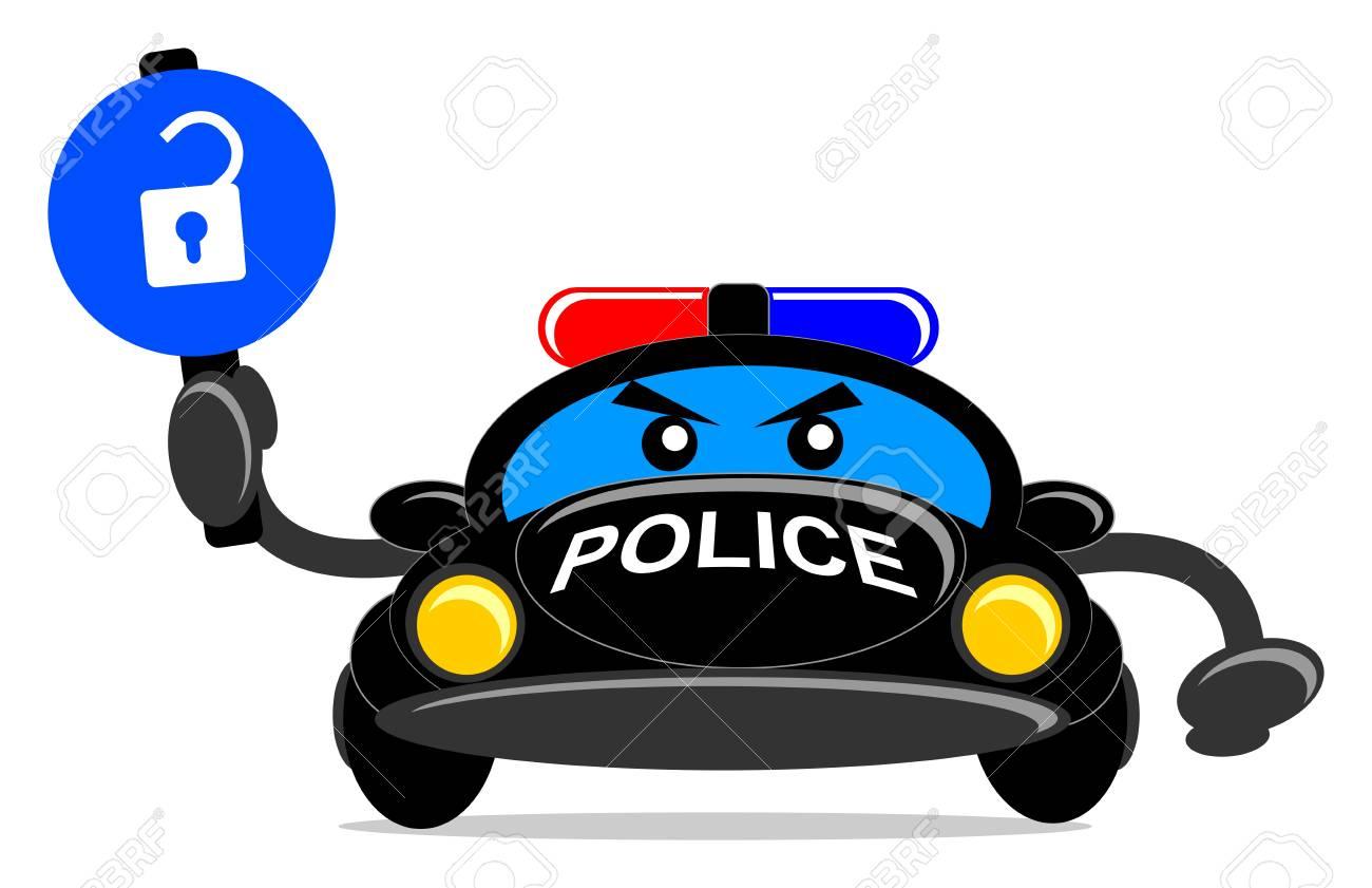 illustration of cartoon police car Stock Vector - 13196841