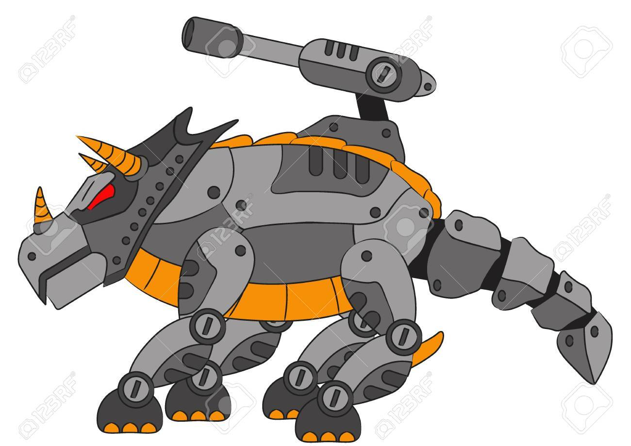 robotic triceratops Stock Vector - 20720573