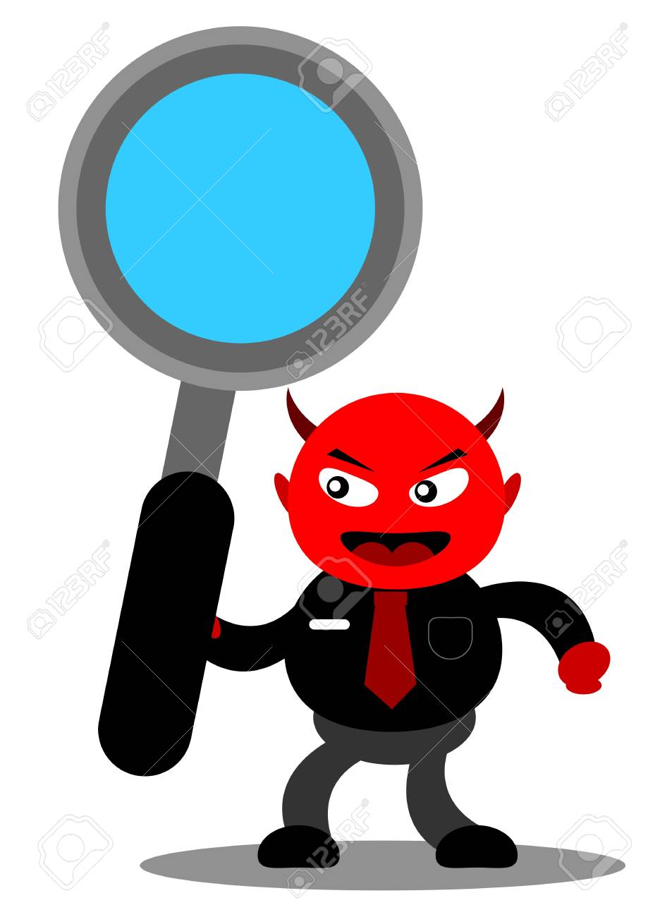 illustration vector graphic cartoon character of devil businessman Stock Vector - 21309043