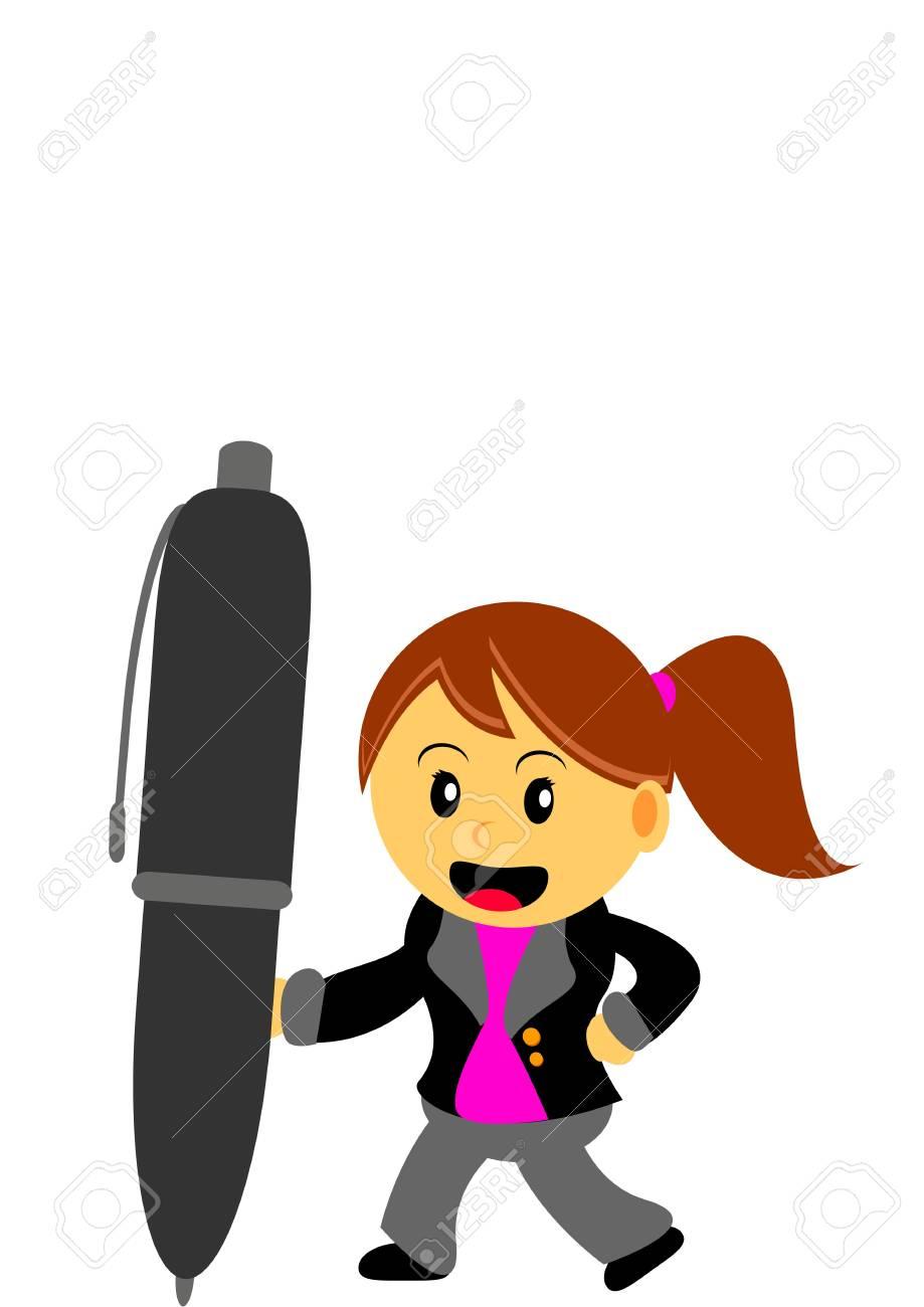 businesswoman in activity Stock Vector - 21601902