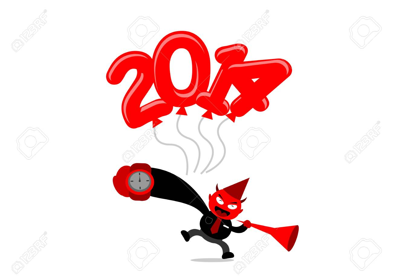 illustration vector graphic of new year themes cartoon character stock vector 24020899