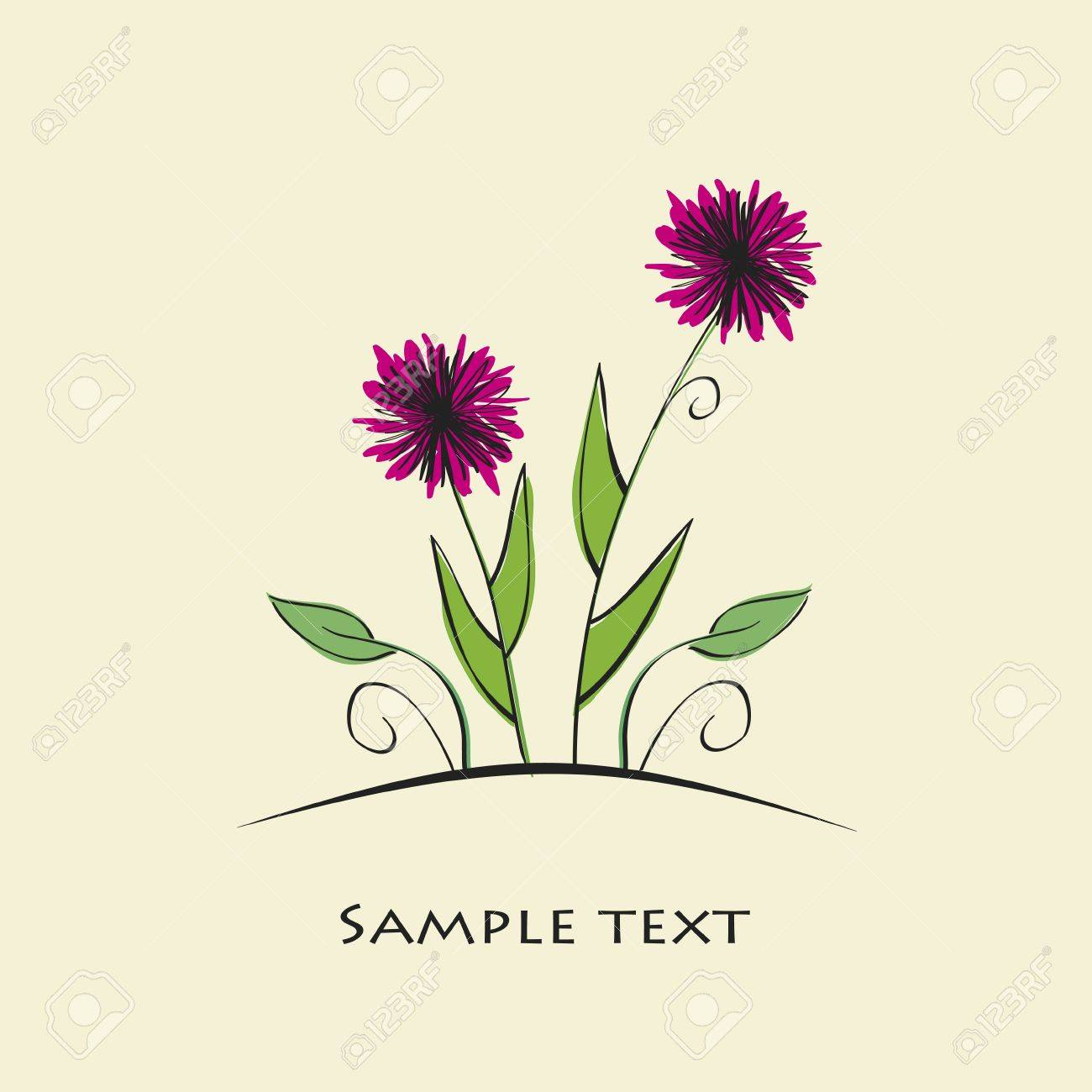 vector colorful flower background Stock Vector - 13187595