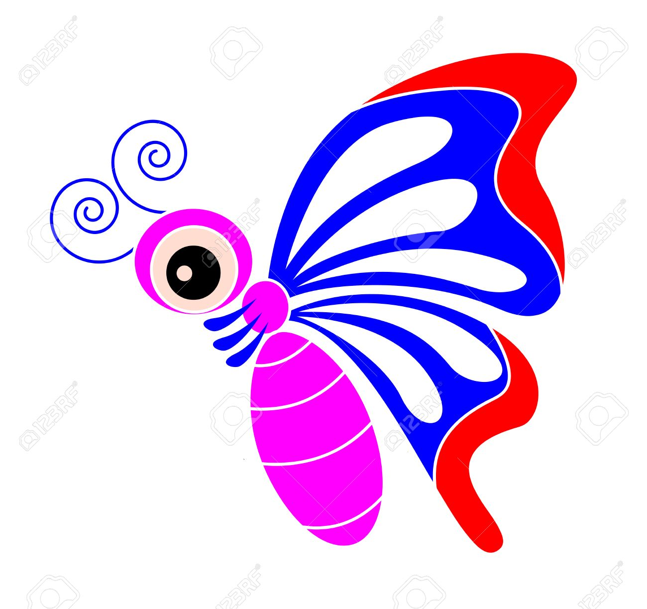Colour Butterfly Cartoon Royalty Free Cliparts Vectors And Stock