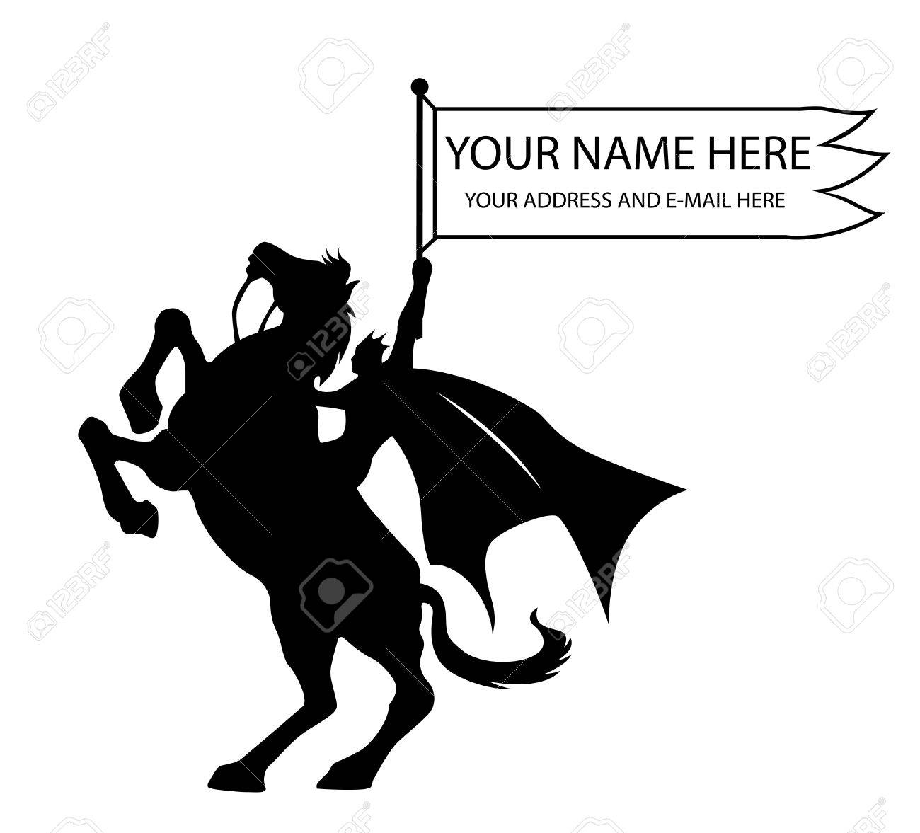 King Riding A Horse Pose And His Hand Holding A Flag Royalty Free Cliparts Vectors And Stock Illustration Image 31463210