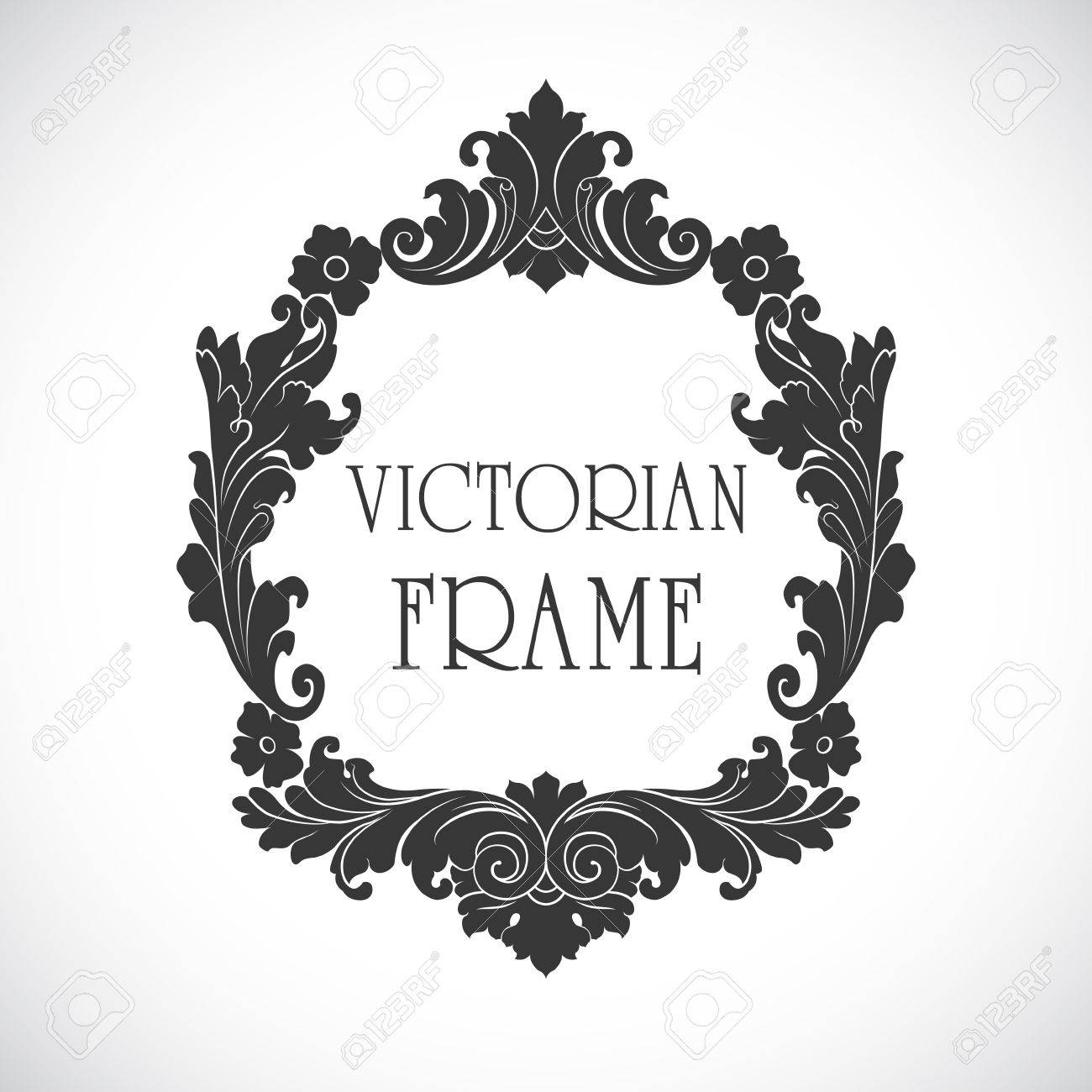 victorian frame vector royalty free cliparts vectors and stock rh 123rf com victorian ornament frame vector free victorian ornament frame vector free