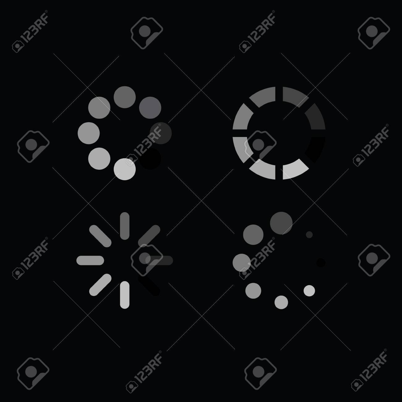 Set of loading symbols royalty free cliparts vectors and stock set of loading symbols stock vector 38570732 biocorpaavc Image collections