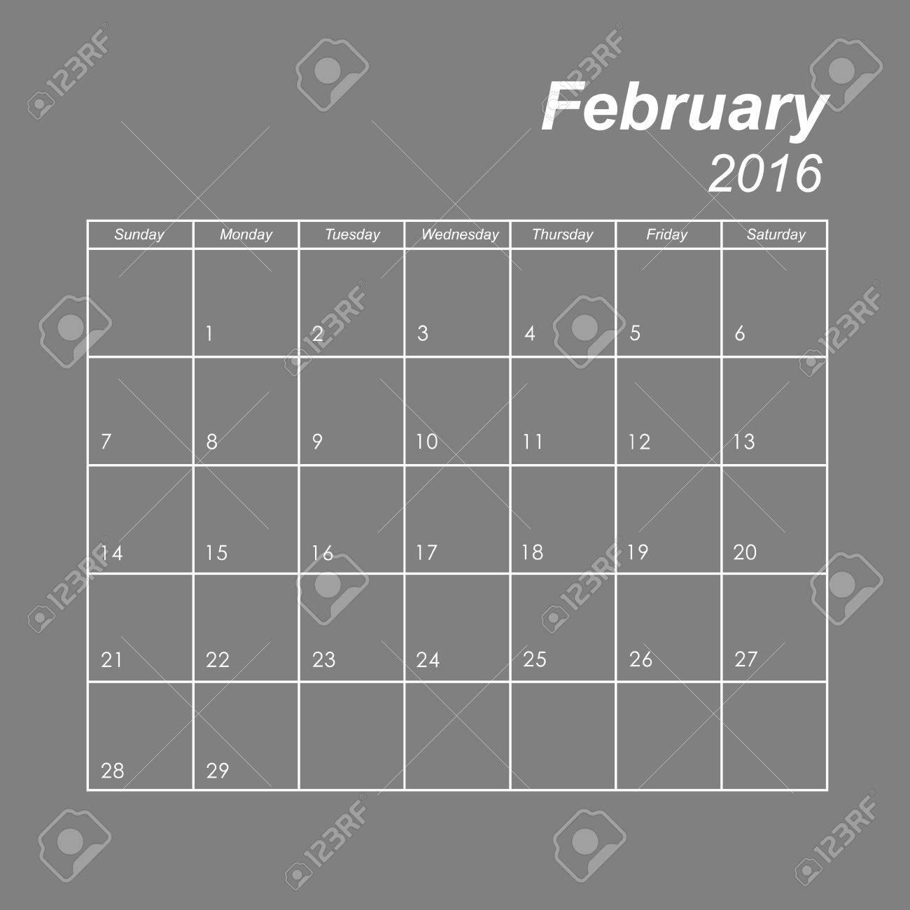 Vorlage der Kalender für