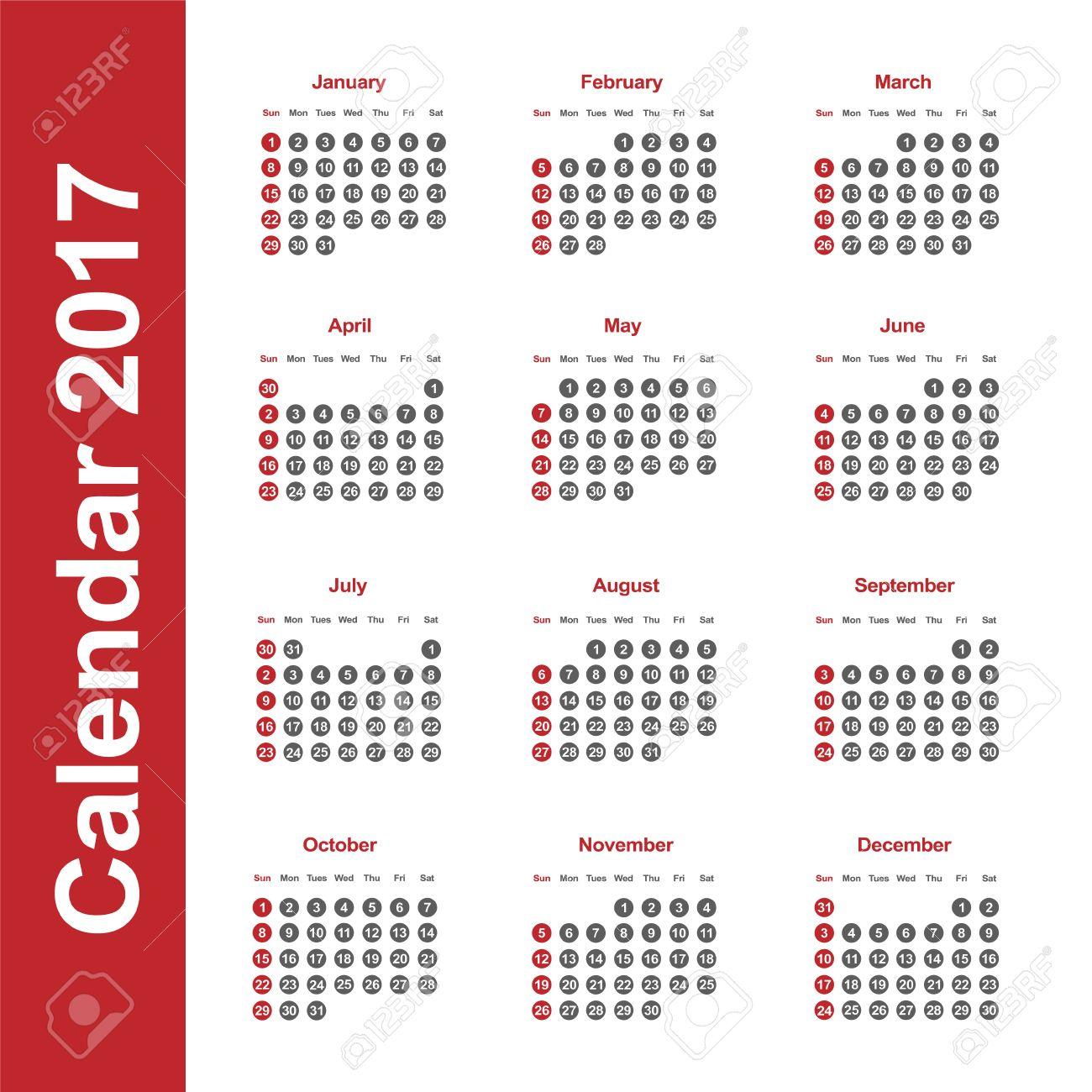 Vorlage von Kalender für