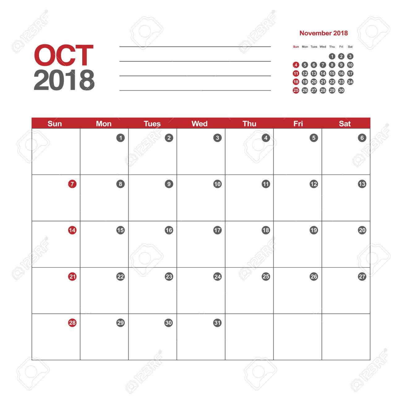 october 2018 template