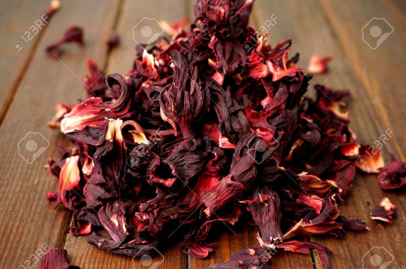Dried Hibiscus Flower Stock Photo Picture And Royalty Free Image