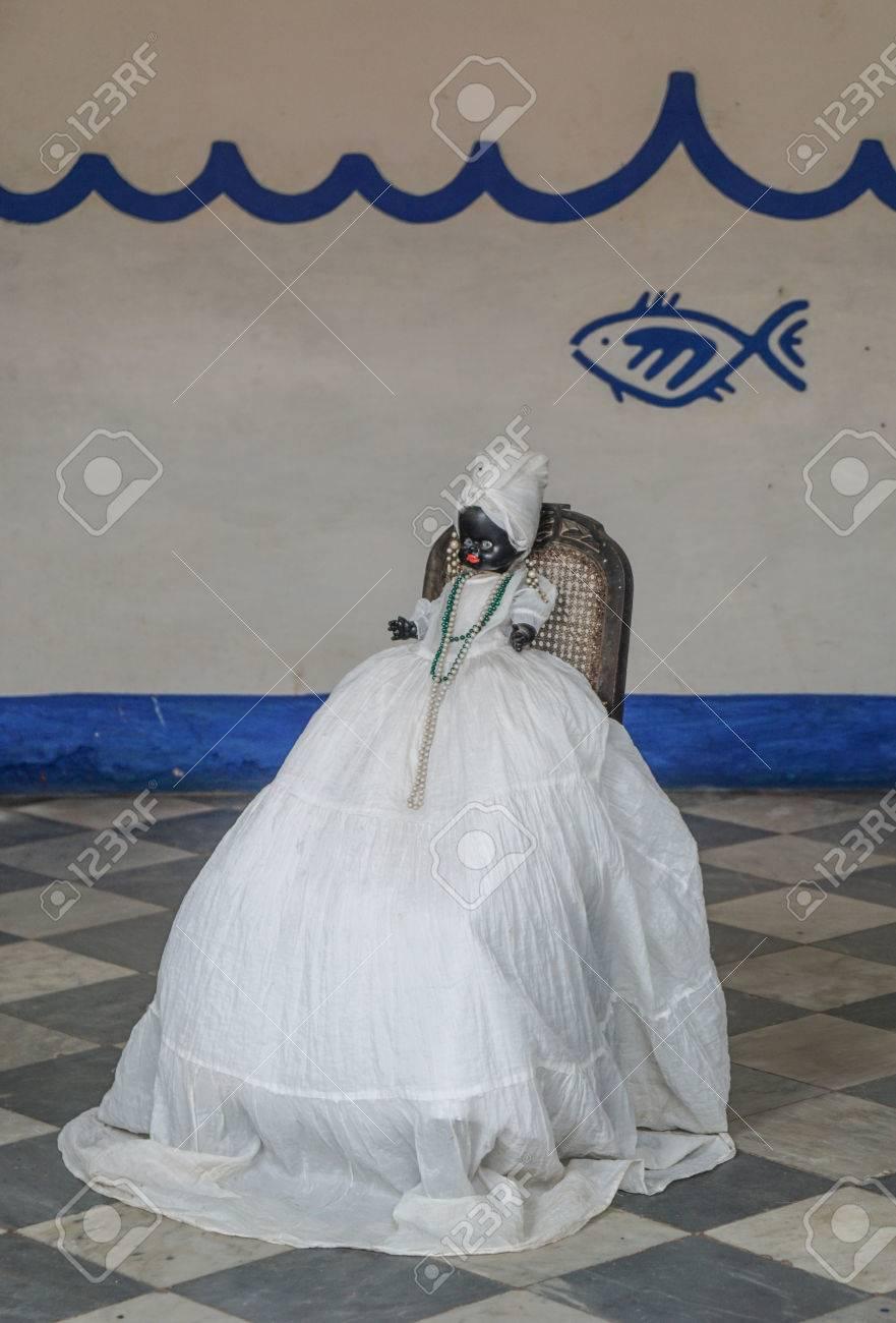 Trinidad, Cuba - January 14, 2016: Afro Caribbean religion Doll