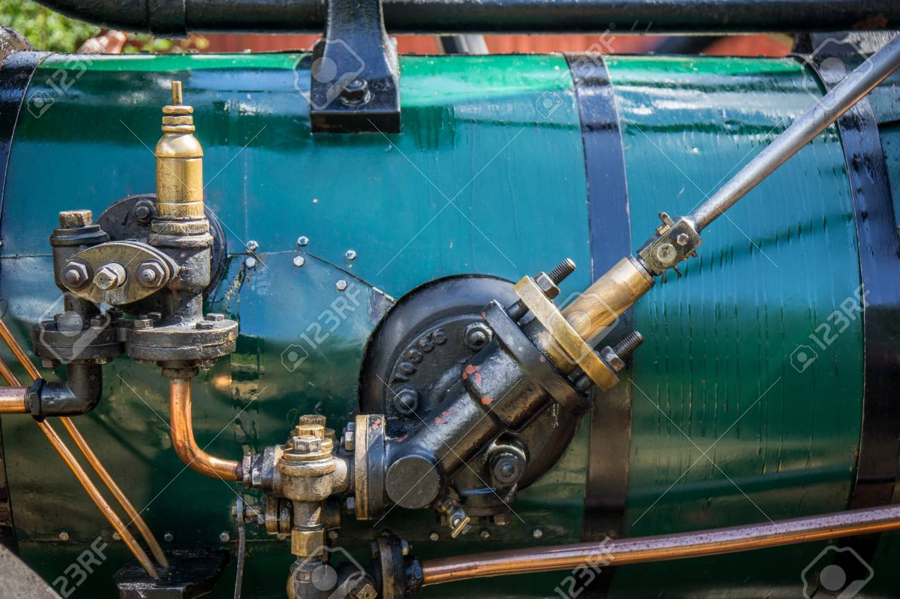 Detail Of Old Vintage Steam Machinery With Valves, Pipes And.. Stock ...