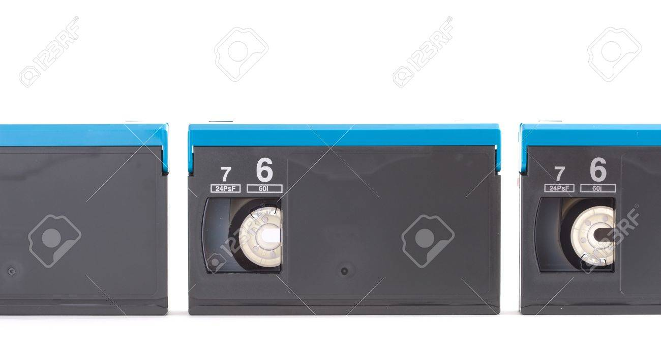 digital tapes in one row Stock Photo - 8539380