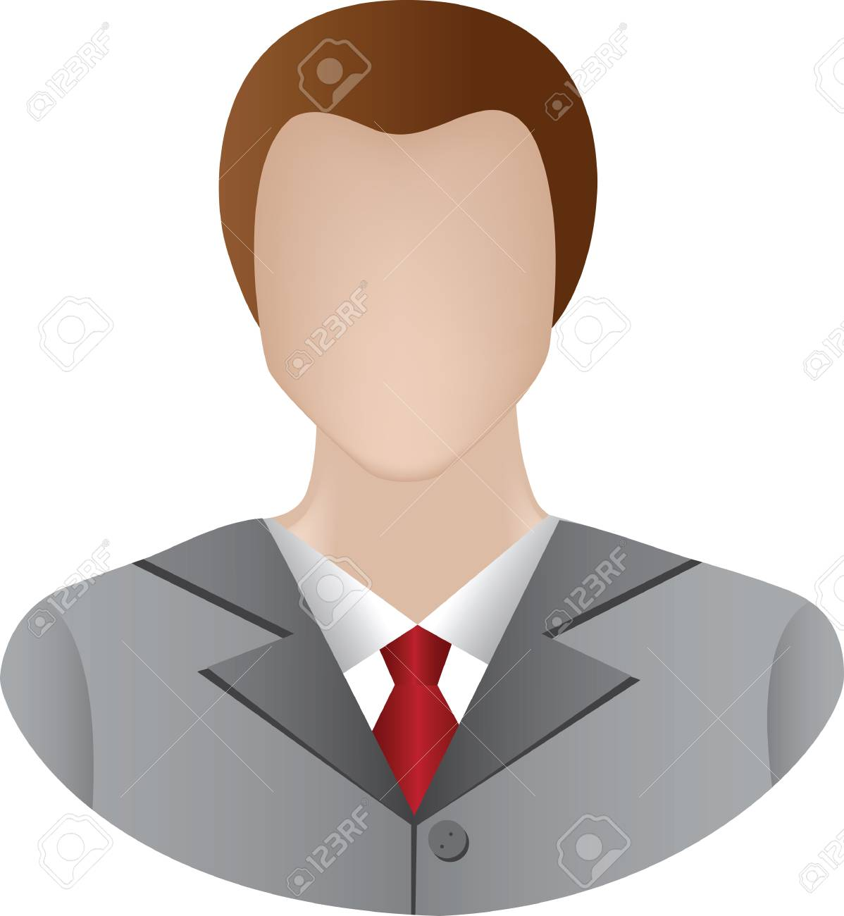 icon of businessman Stock Vector - 8265039