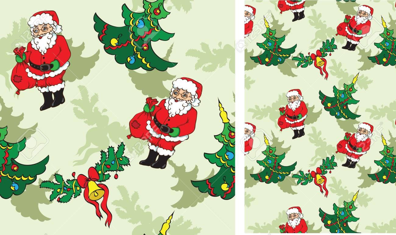 Oggetti Di Natale.Pattern Senza Soluzione Di Continuita Con Gli Oggetti Di Natale