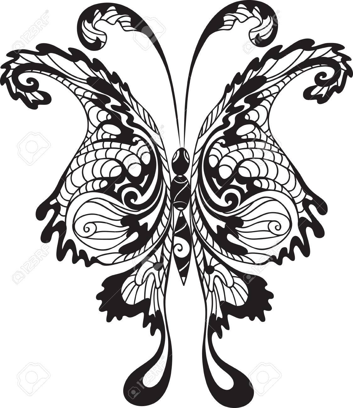 black butterfly Stock Vector - 9095440