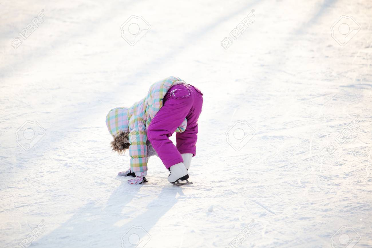 Little Child Learning How To Ice Skate Stock Photo 48923451 Little Child  Learning How To Ice