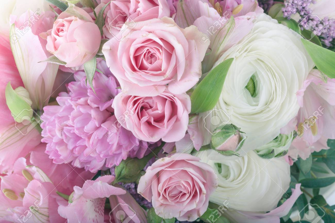 Amazing flower bouquet arrangement close up in pastel colors stock amazing flower bouquet arrangement close up in pastel colors stock photo 52217295 izmirmasajfo