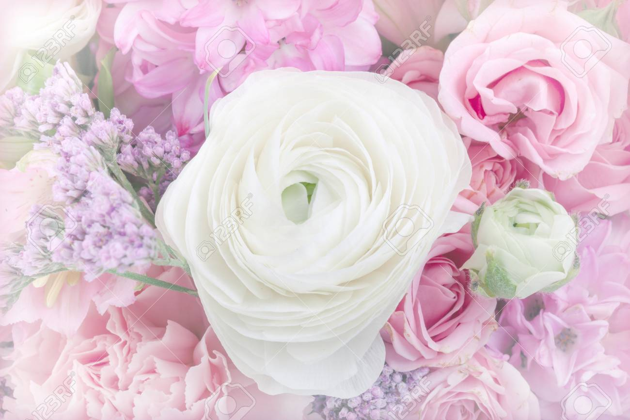 Amazing flower bouquet arrangement close up in pastel colors stock amazing flower bouquet arrangement close up in pastel colors stock photo 55758431 izmirmasajfo