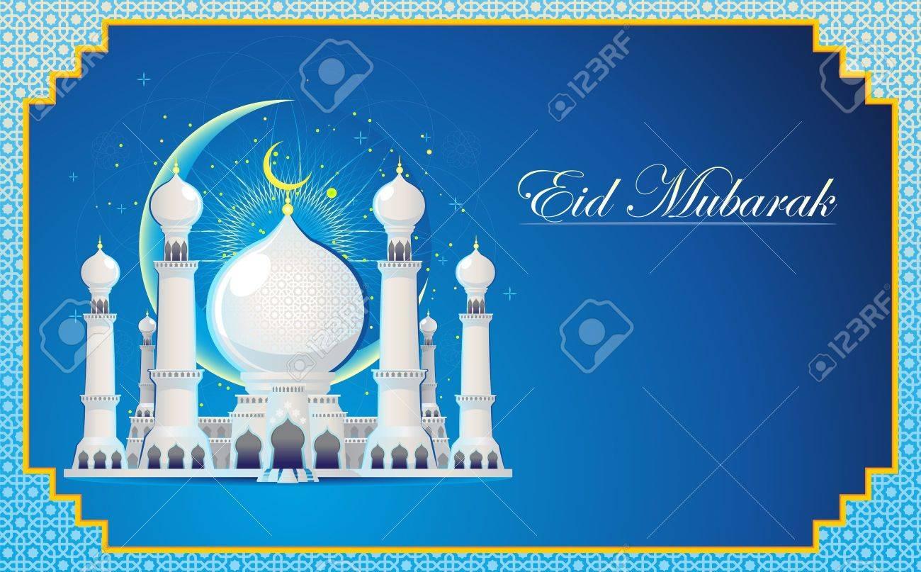 Eid Mubarak Greeting Card Royalty Free Cliparts Vectors And Stock