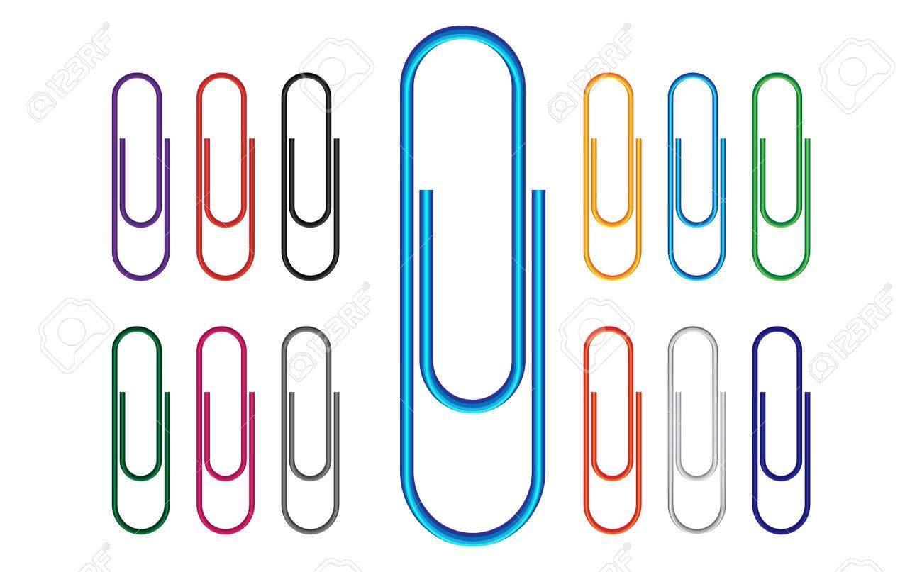 Paper Clip Multi Colored Stock Vector - 15098232