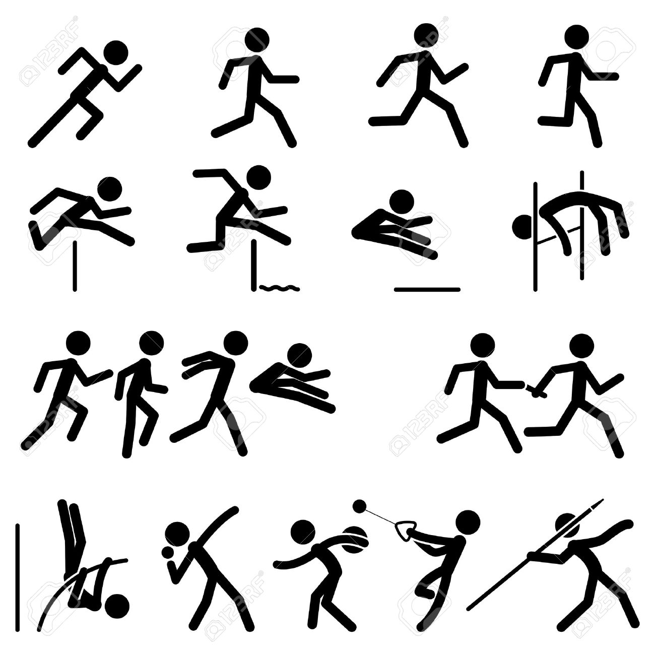 track and field  Sport Track And Field Clipart Hurdles