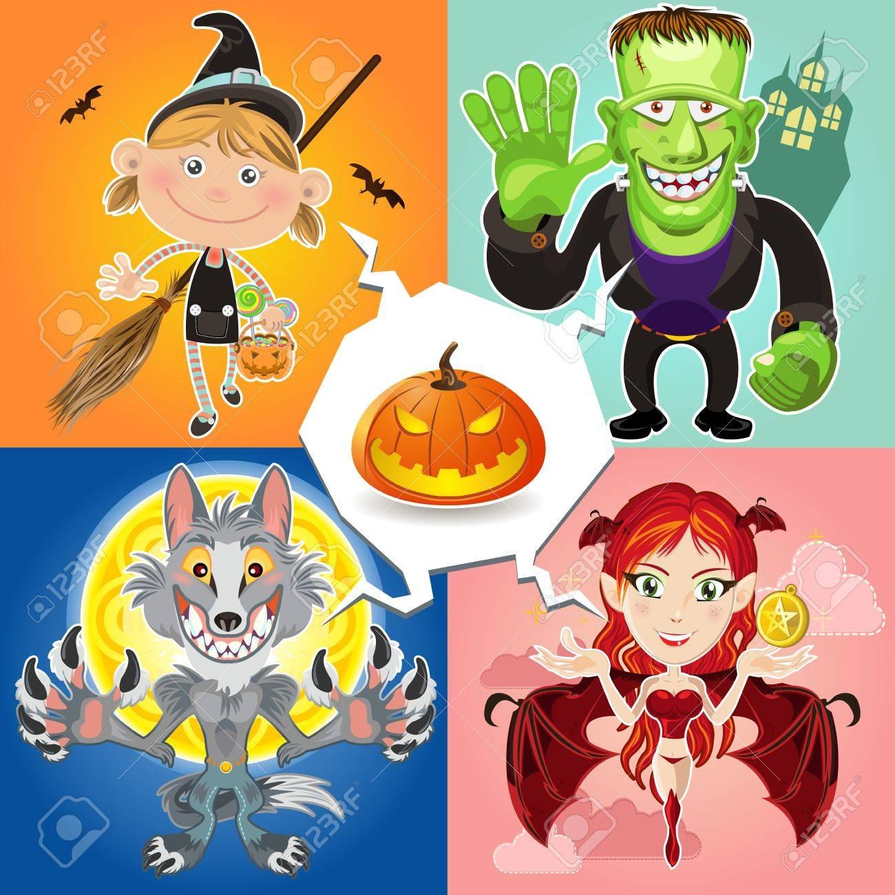 Halloween Characters Stock Vector - 15543758