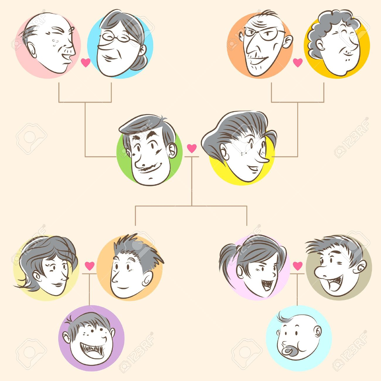 Family Tree Doodle Style - 18706254