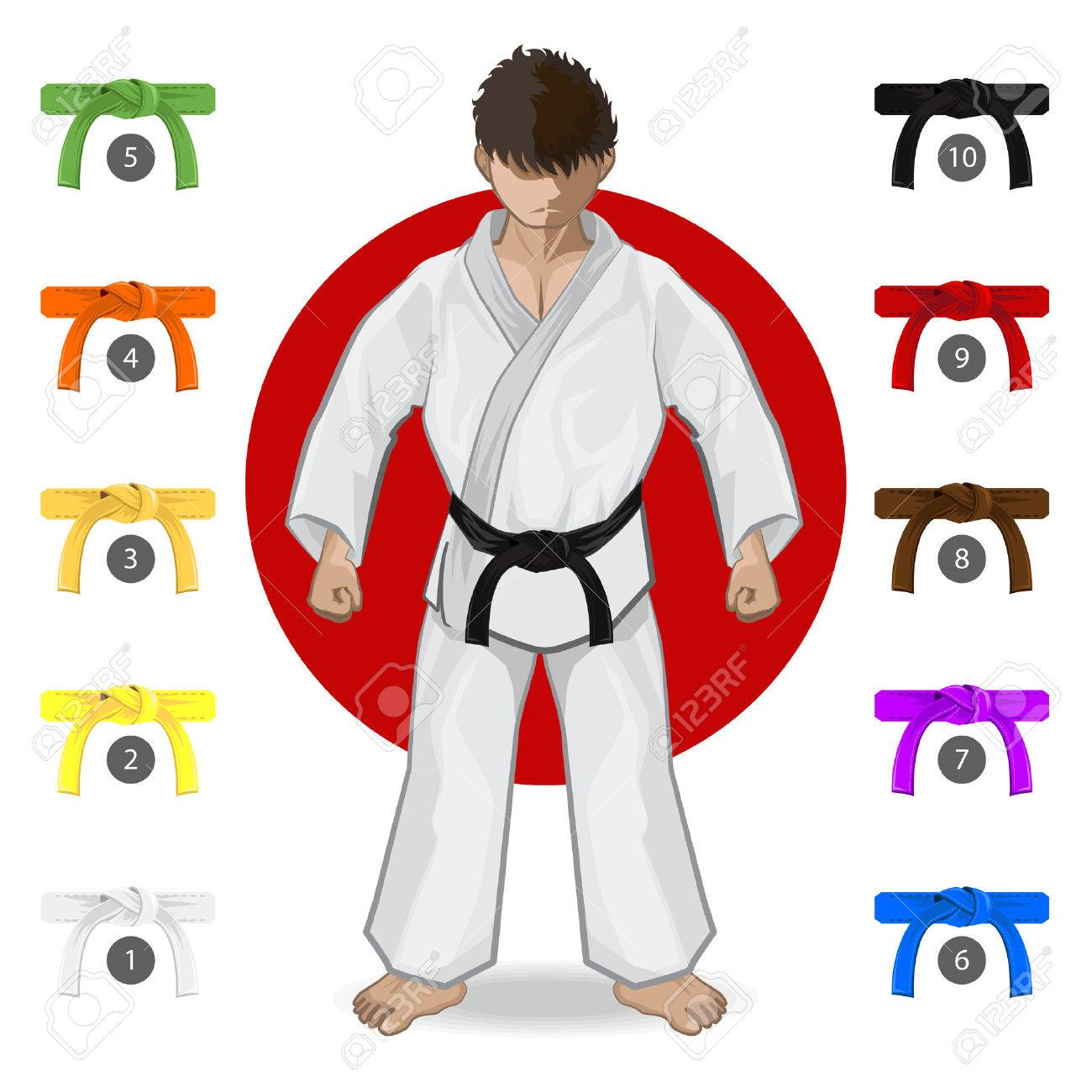 KARATE Martial Art Belt Rank System - 43817604