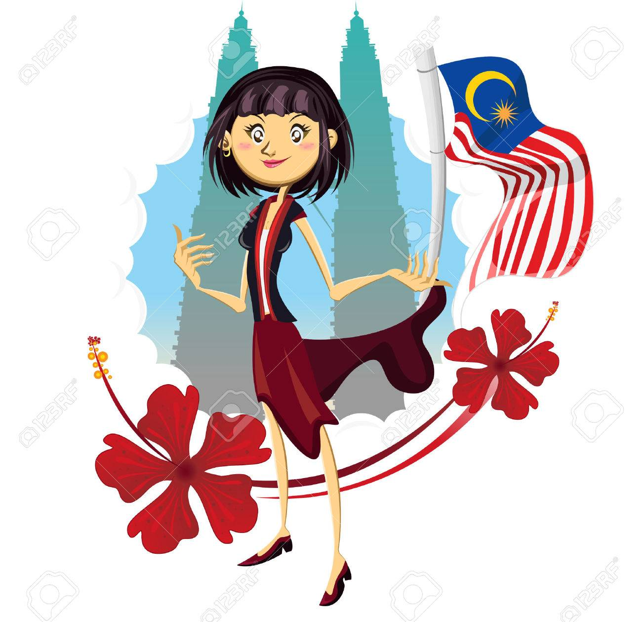 Tourism in malaysia truly asia illustration woman standing at tourism in malaysia truly asia illustration woman standing at petronas tower represented tourism in malaysia truly buycottarizona Gallery