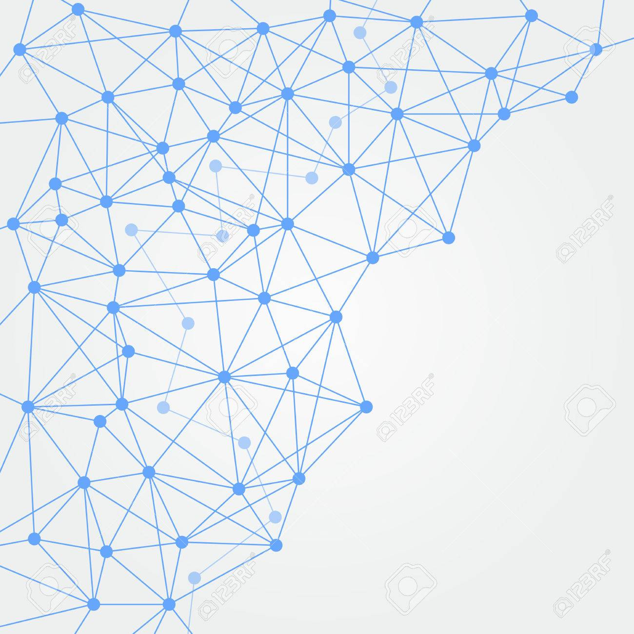 light blue networking crossing elegant modern web on gray background
