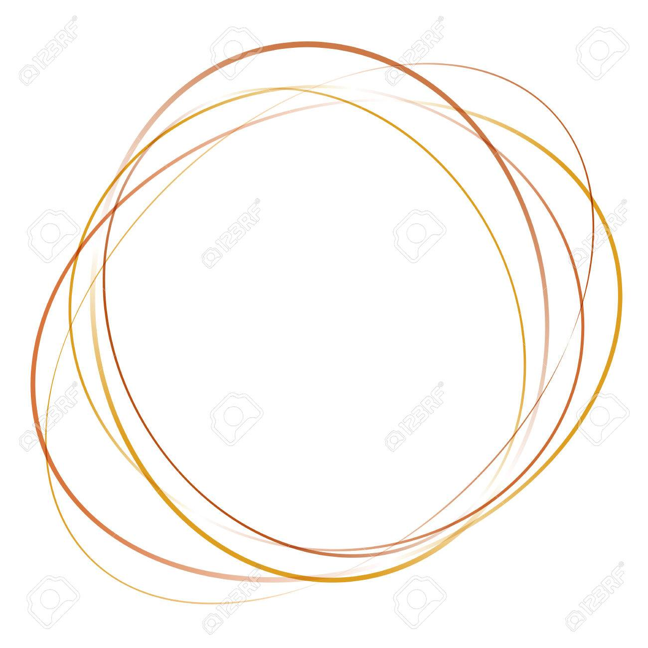 Orange Yellow Abstract Swirl Tornado Of Moving Circles Vector