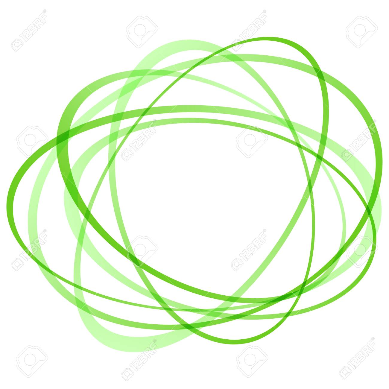 Bright Green Abstract Transparent Swirling Tornado Of Circles
