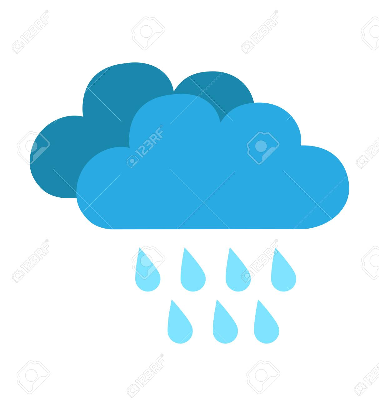 Rain cloud icon isolated on white background vector illustration for web site design, app, weather - 111361198