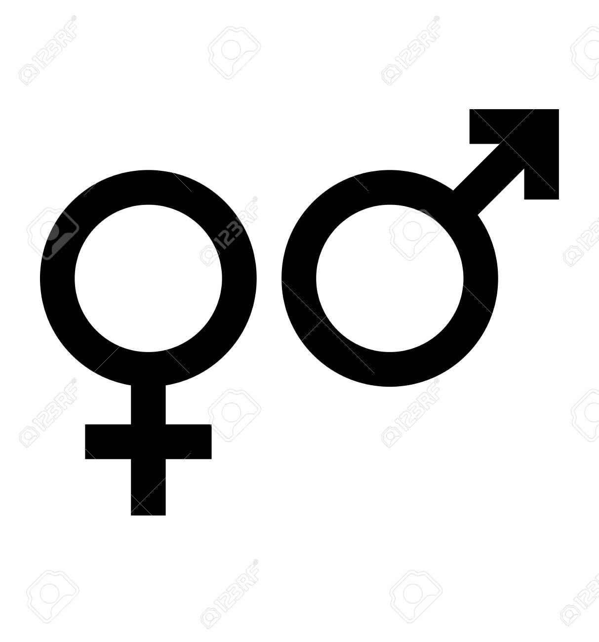 Gender icon symbol vector isolated on white - 136638303
