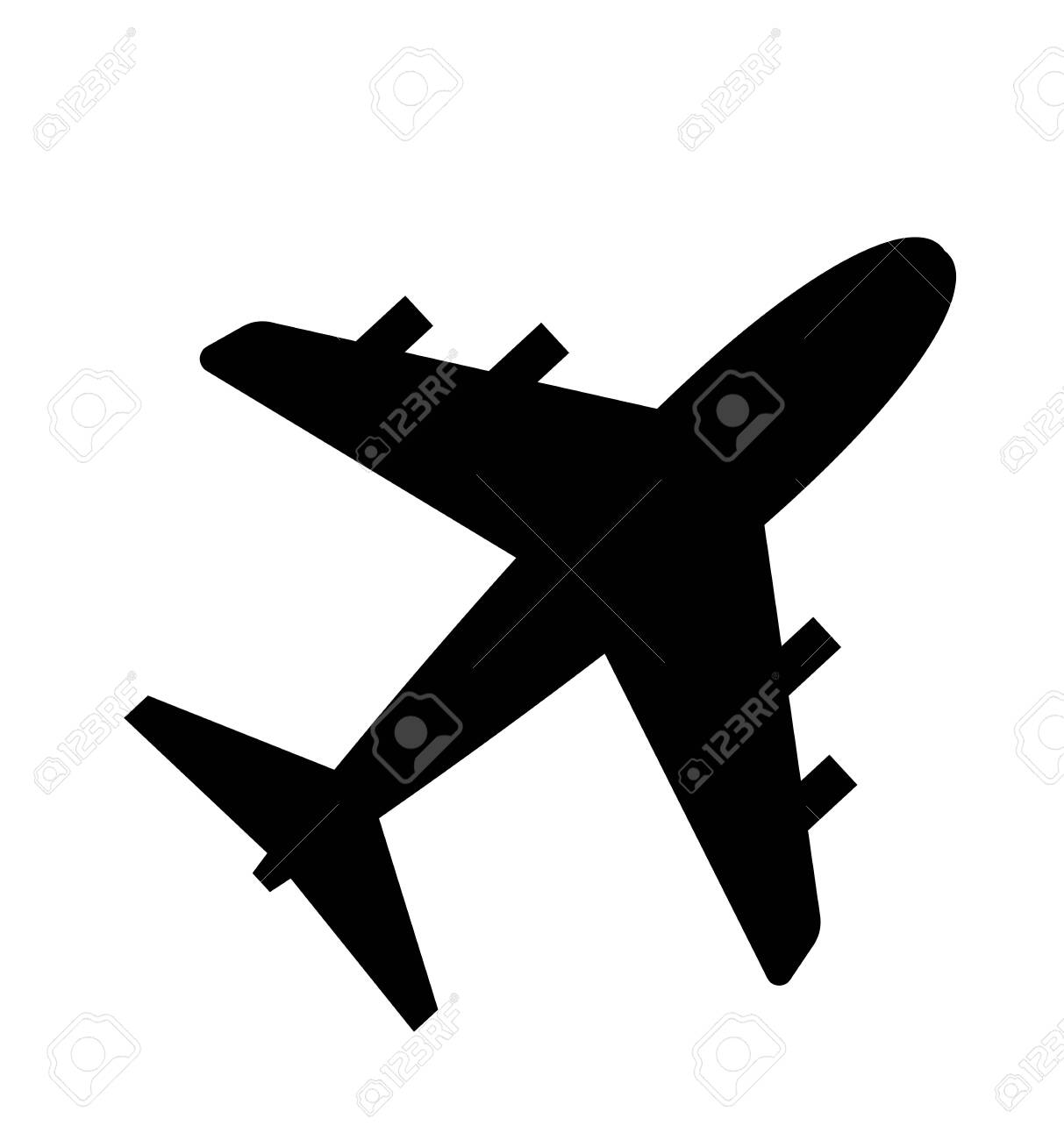 Vector airplane icon isolated on white flat - 136638308