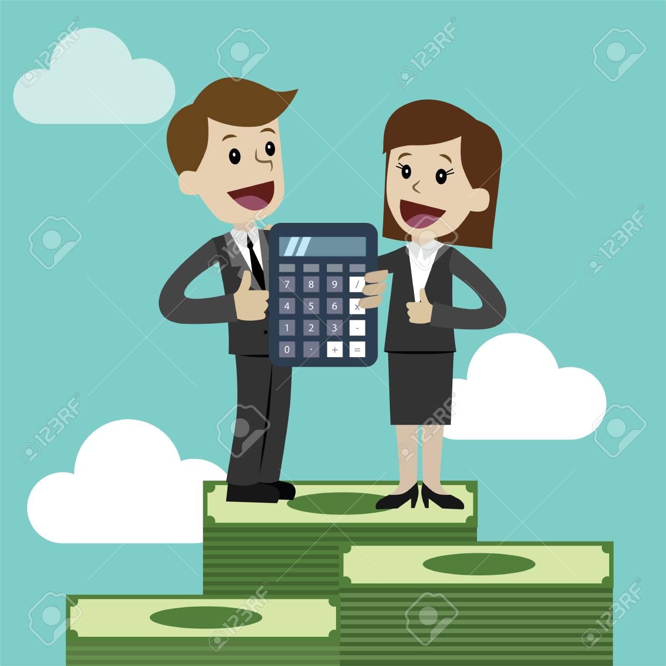 Profit, finances concept. Vector, flat illustration - 126769385