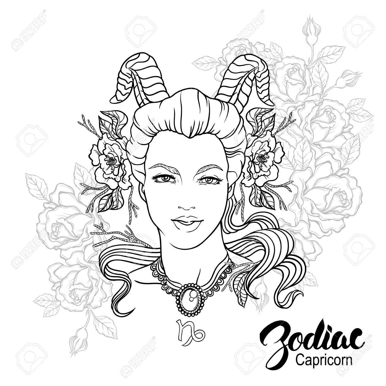 capricorn coloring pages.html
