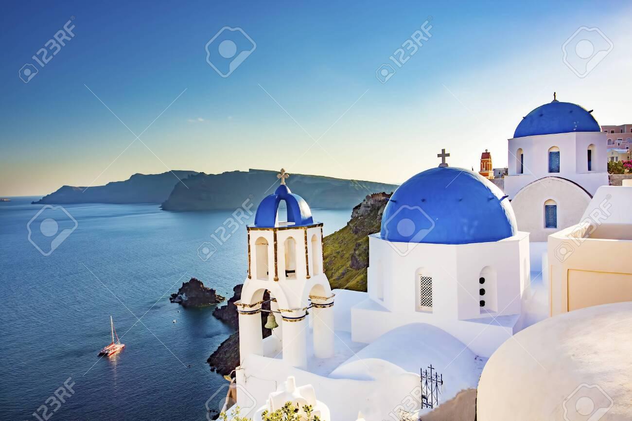 Travel holiday concept photo. Santorini island / Greece - 152771834