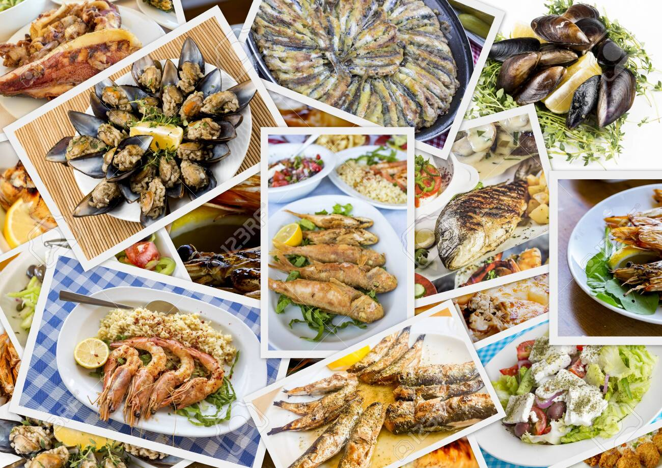 Traditional Delicious Different Turkish foods collage. Rich menu. - 154315162