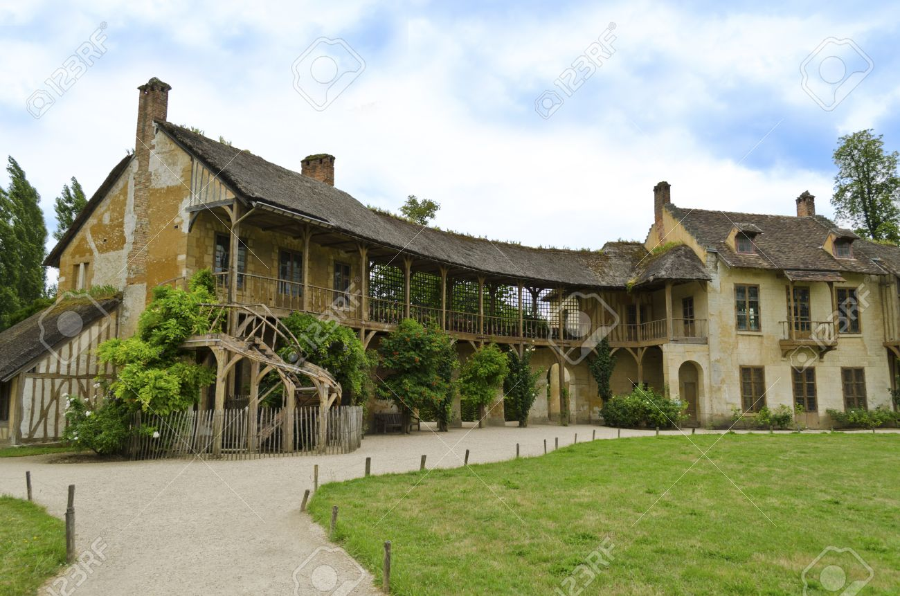 La maison de la reine located in the queens hamlet in the trianon versailles france