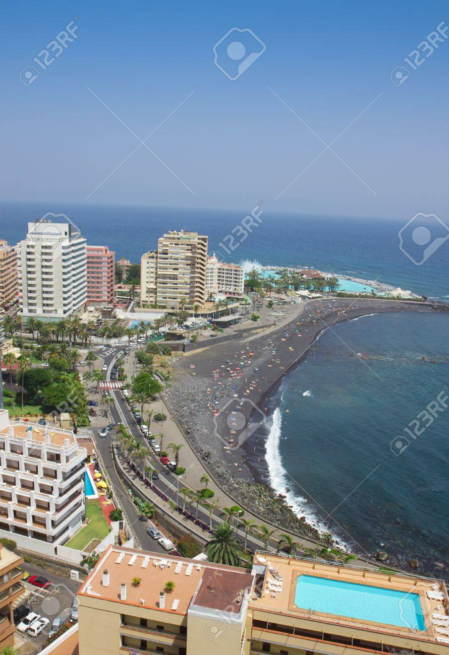Beaches And Hotels Of Puerto De La Cruz Tenerife Spain Stock Photo Picture And Royalty Free Image Image 20898812